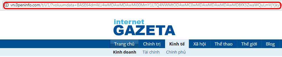 trang web giả