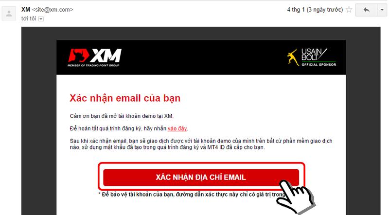 e mail xác nhận