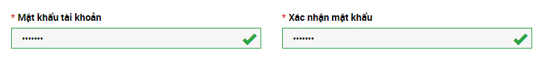 Đặt mật khẩu XM