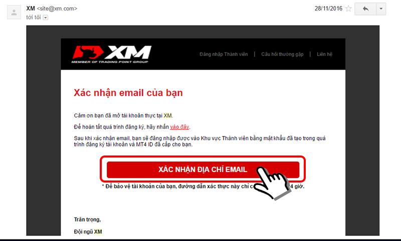 mở tài khoản thực XM