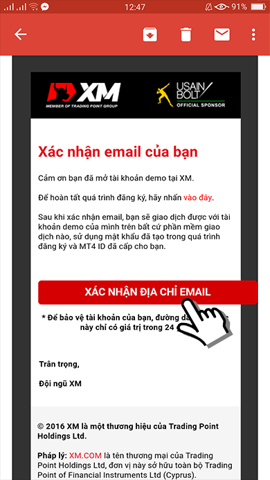 xac nhan e-mail